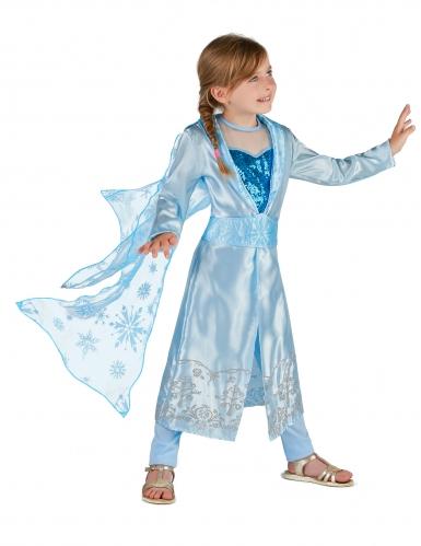 Blå vinter prinsess kostume-1