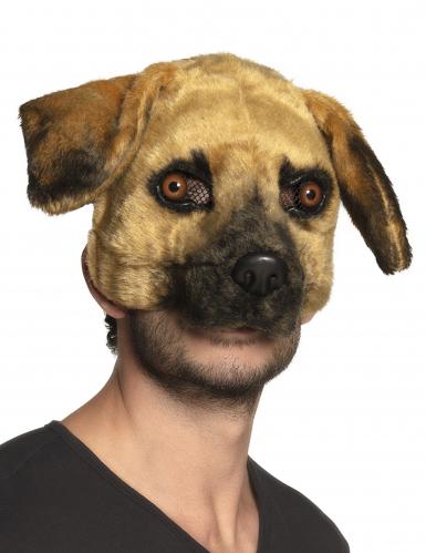 Hunde maske i plys - voksen