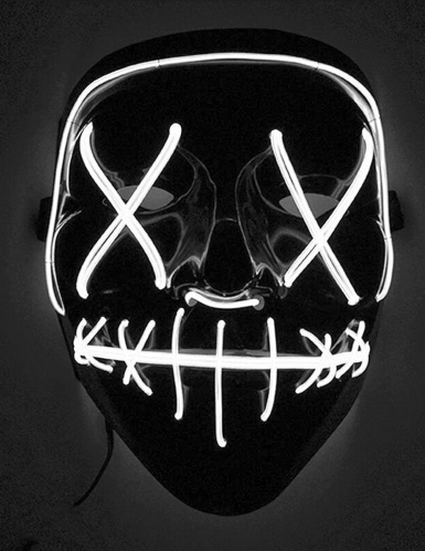 LED maske hvid lys til voksne