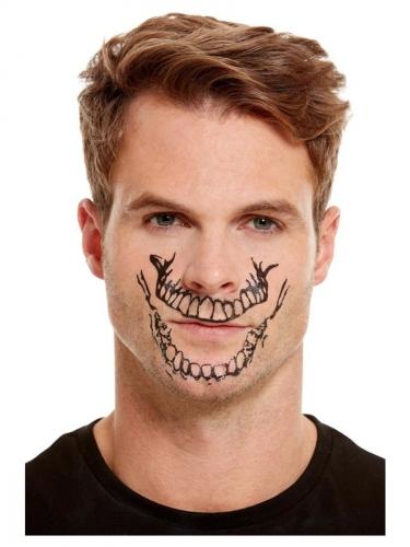 Sminke sæt med tatovering skelet mund tl voksne-1