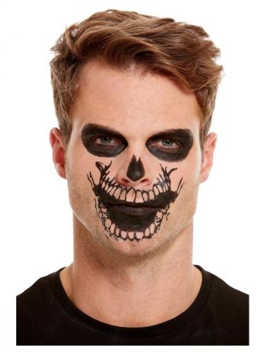 Sminke sæt med tatovering skelet mund tl voksne-2