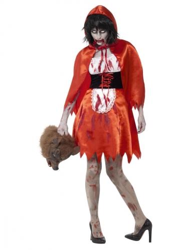 Zombie Kostume Rødhætte til kvinder