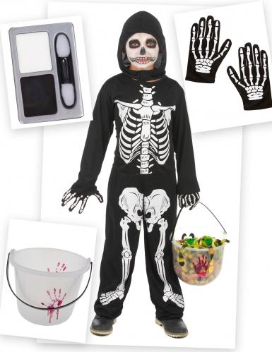Kostume Kit Skelet til drenge