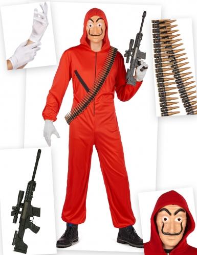 Kostume Kit Bankrøvere til voksne