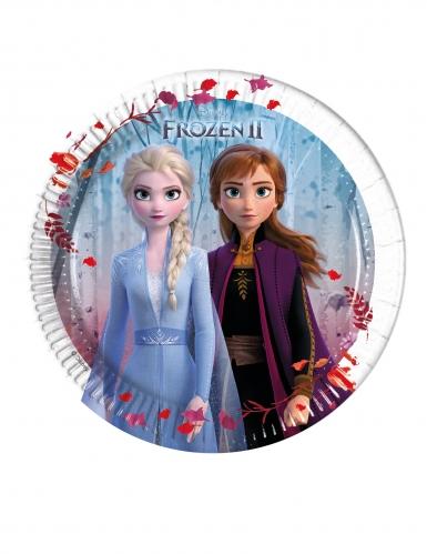 8 Små paptallerkner Frozen 2™ 20 cm