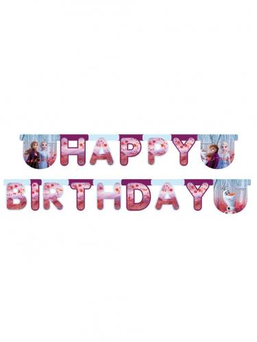 Happy birthday guirlande Frozen 2™ 200 x 16 cm
