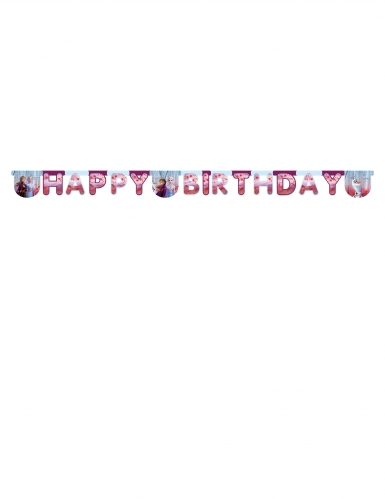 Happy birthday guirlande Frozen 2™ 200 x 16 cm-1