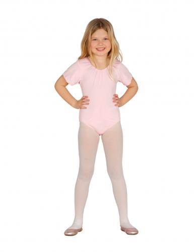 Body med korte ærmer lyserød - barn