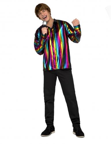 Regnbue disko skjorte - mand