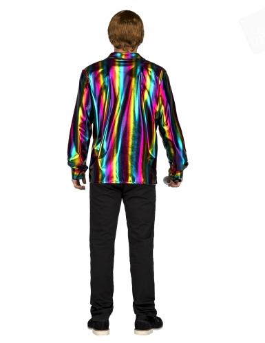 Regnbue disko skjorte - mand-1