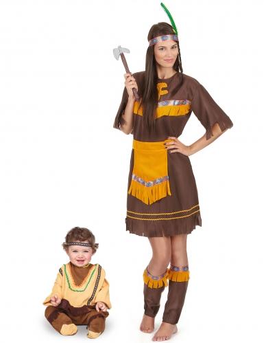 Par kostume brun indianer mor og søn