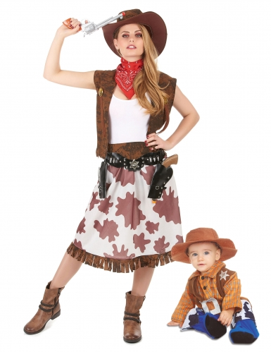 Par kostume Cowboy- mor og søn