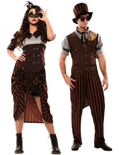 Par kostume steampunk brun - voksen
