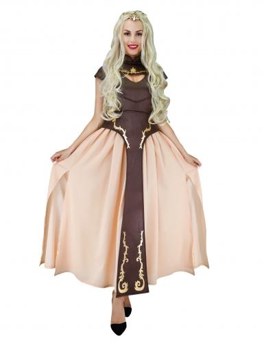 Middelalder prinsesse kostume i brun - Kvinde