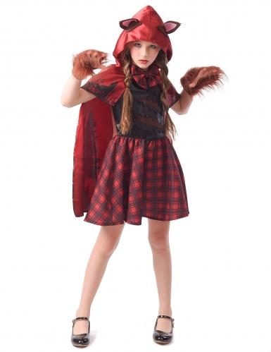 Rødhætte varulv kostume - pige