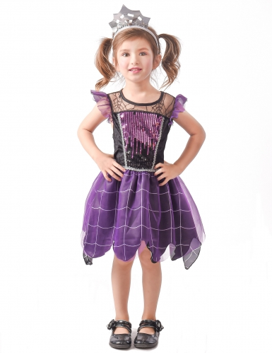 Lilla heksedronning kostume - pige
