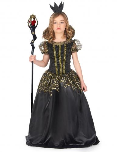 Ond dronning kostume sort - pige