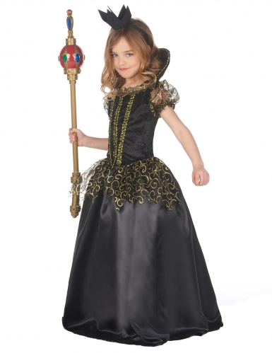 Ond dronning kostume sort - pige-1