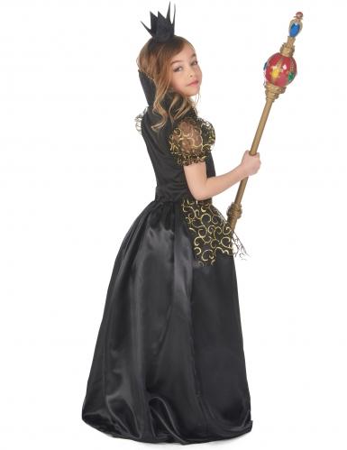 Ond dronning kostume sort - pige-2
