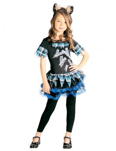 Varulv kostume blå - pige