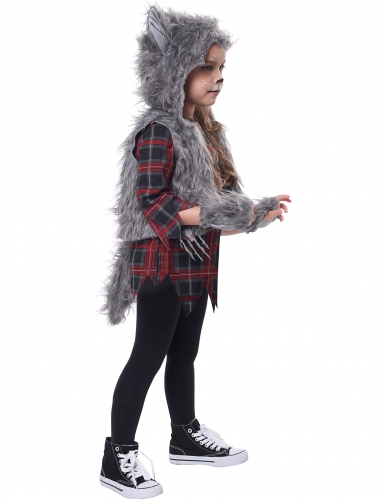 varulv kostume grå - pige-1