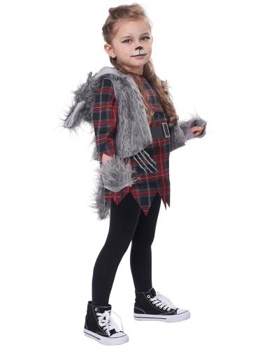 varulv kostume grå - pige-2