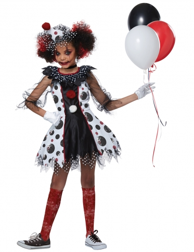 Skrækindgydende klovn kostume - pige-1