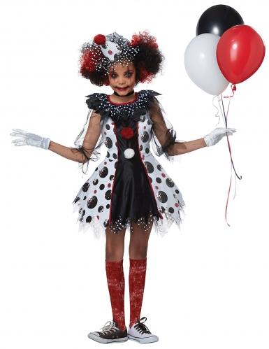 Skrækindgydende klovn kostume - pige-2