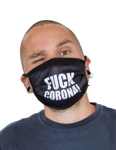 Ansigtsmaske med print fuck - voksen