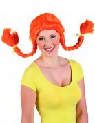 Orange paryk dame