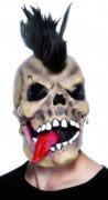 Punket skeletmaske Halloween voksen