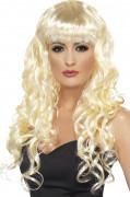 Blond havfrueparyk med bølgende lokker