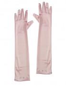 Luksuriøse lyserøde handsker