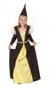 Middelalderprinsesse kostume pige
