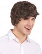 Kort brun paryk til mænd