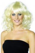 Krøllet Blond Paryk Kvinde