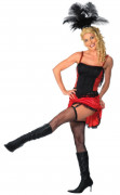 Rød burlesque danser - udklædning voksen