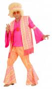 Kostume lyserød hippie til mænd
