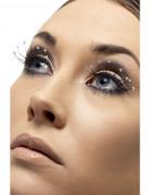 Lange sorte falske øjenvipper med perle i enderne Voksne