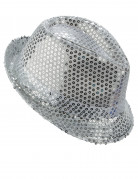 Hat i italiensk stil med sølvpailletter Voksne