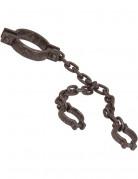 Håndjern m. Kæde om halsen