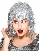 Paryk med sølvfarvet glitter
