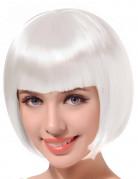 Paryk kort hår hvid