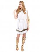 Romersk gudindekostume i hvidt