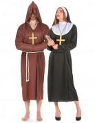 Sort nonne og brunt munke parkostume til voksne