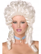 Hvid barokparyk til kvinder
