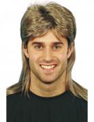 Blond paryk med hockey frisure til voksne