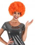 Paryk afro disco orange komfort voksen