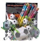 Sortiment fodbold gadgets