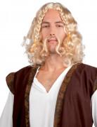 Vikingeparyk med overskæg til mænd